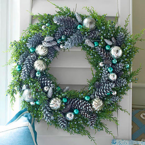 blue and silver wreath House Proud Signs Blog
