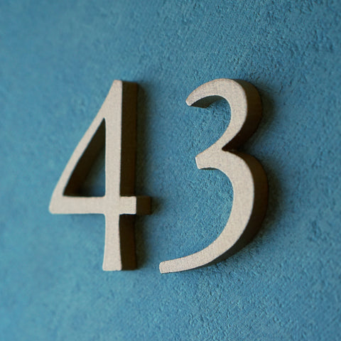Garamond cast metal House Numbers