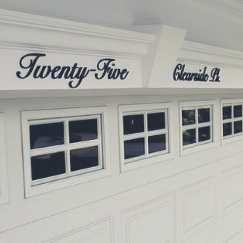 VILLA CUSTOM ADDRESS SIGNS