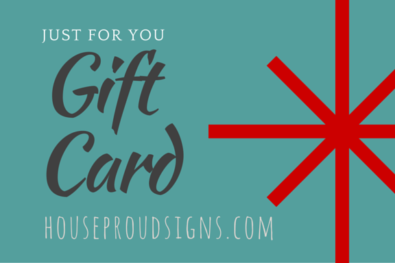 House Proud Gift Card