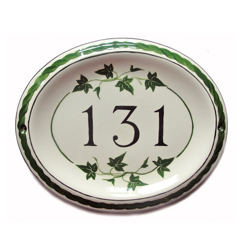 IVY Ceramic Sign Oval