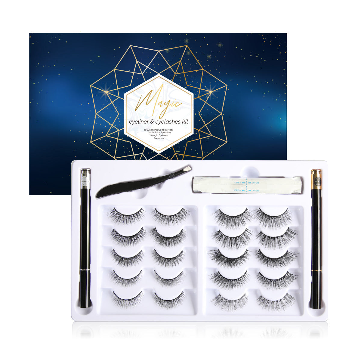 🔥HOT SALE🔥Non-Magnetic Liner And Lashes Kit
