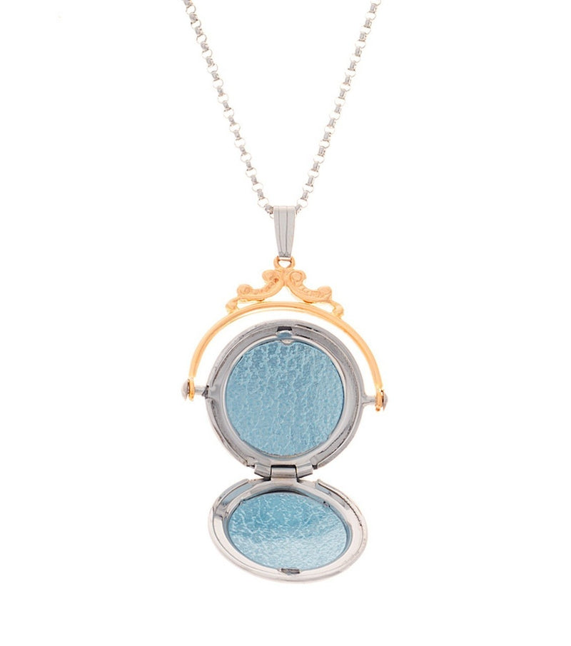Two Tone Diamond Spin Locket