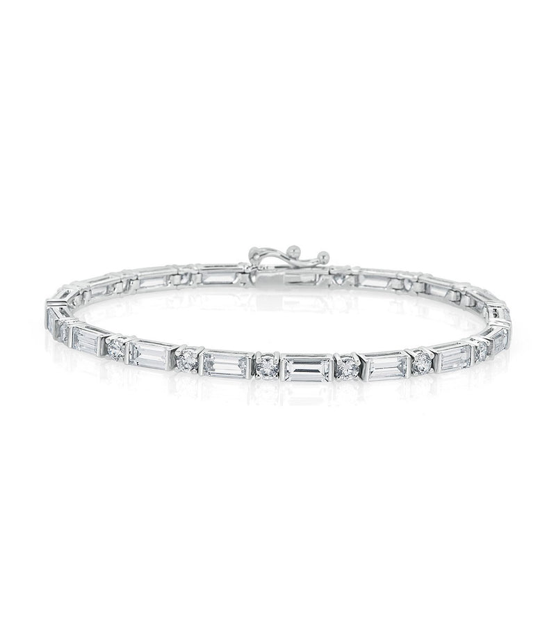 Karolyne Classic Baguette and Round Bracelet