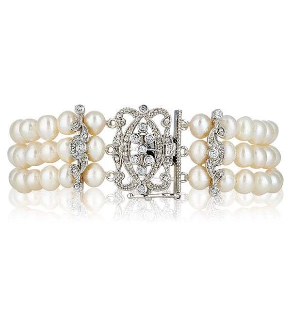 Grace Three Strand Pearl Bracelet