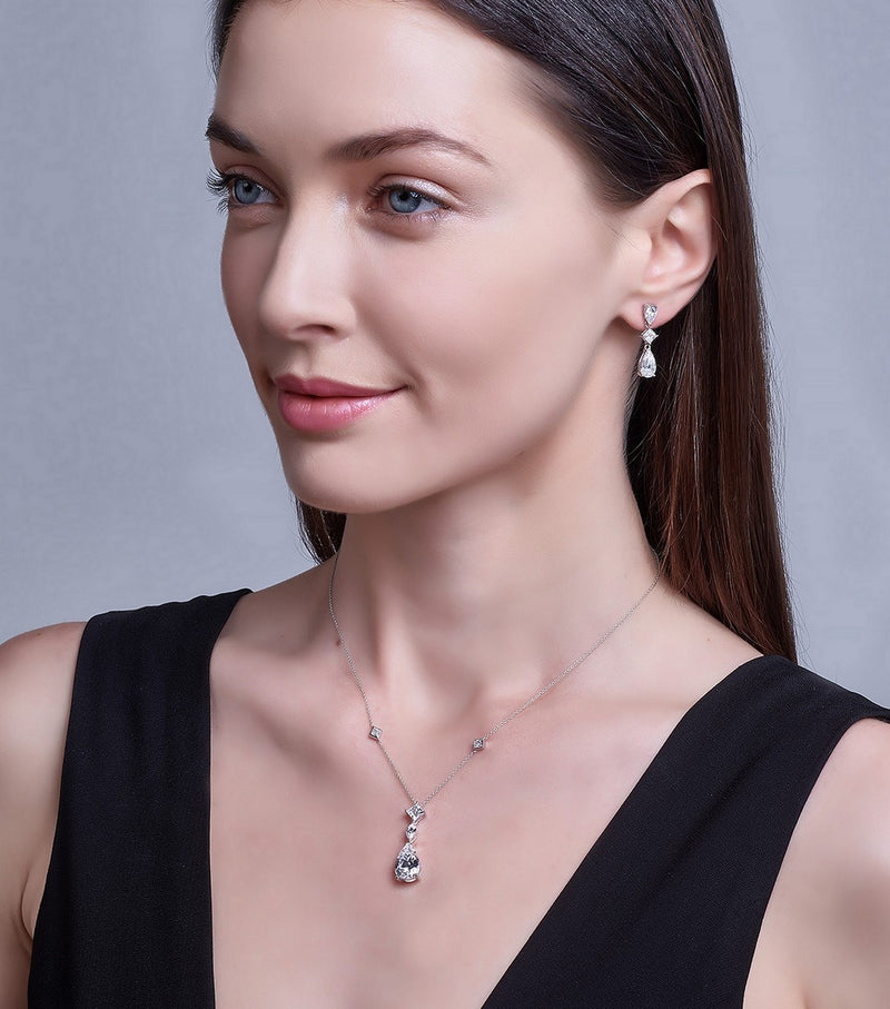Earrings and  Pendant Necklace Jewelry Set
