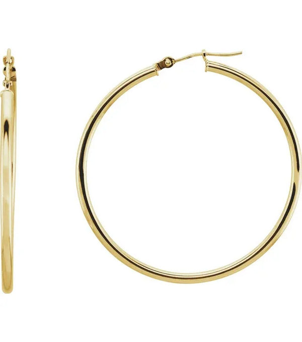 Gold 40 mm Hoop Earrings