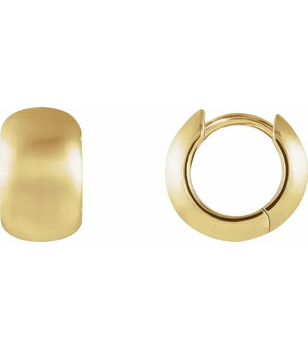 14K Gold 11.5 mm Huggie Earrings