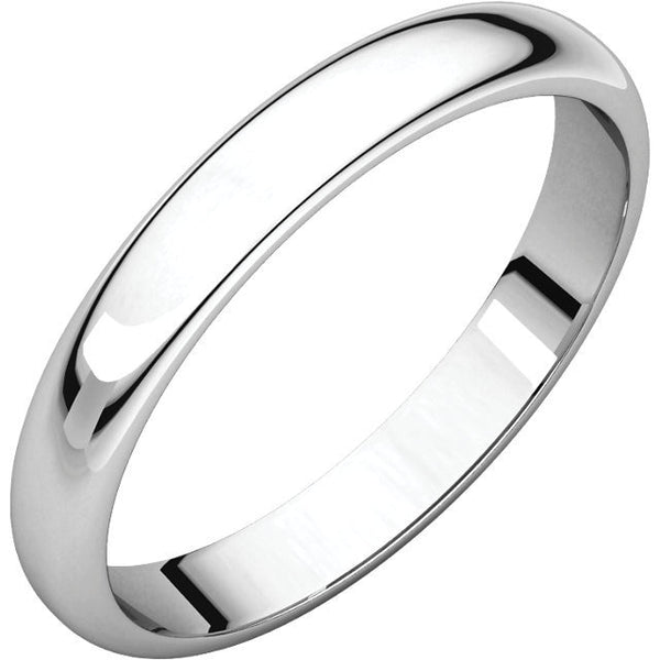 3mm Half Round Wedding Band