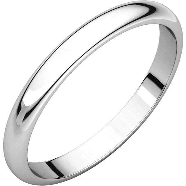 2.5mm Half Round Wedding Band - Thomas Laine Jewelry