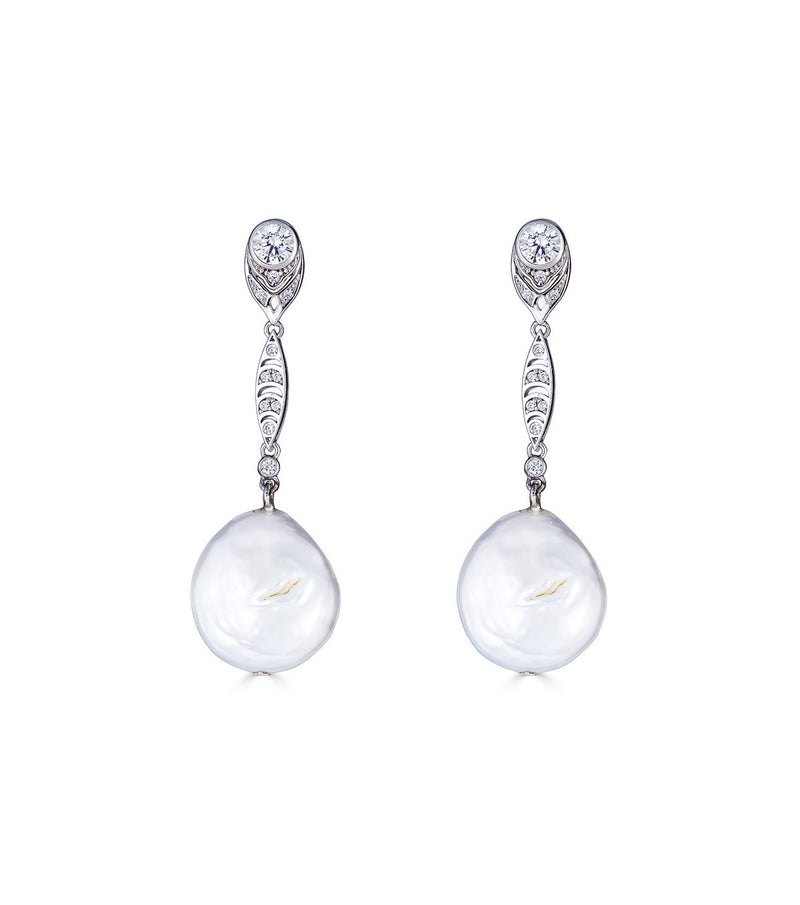 Georgian Coin Pearl Earrings - Thomas Laine Jewelry
