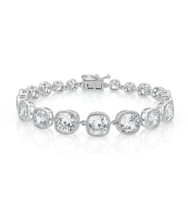 Lucille Cushion Cut Bracelet - Thomas Laine Jewelry