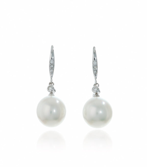 White South Sea Pearl and Diamond Set - Thomas Laine Jewelry