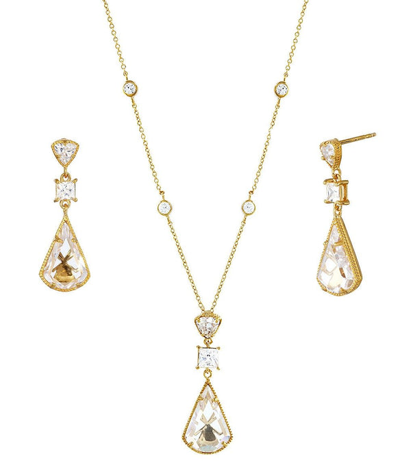 Lucille Drop Earrings and Pendant Set