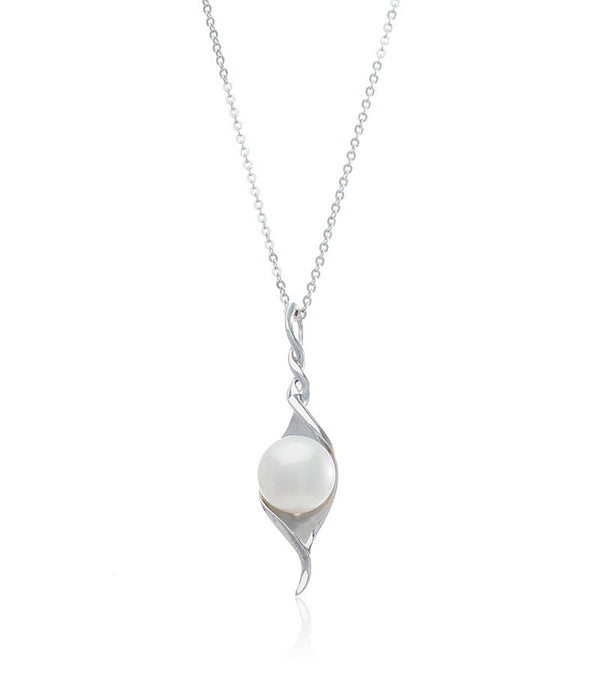 Sterling Silver Pearl Melody Necklace