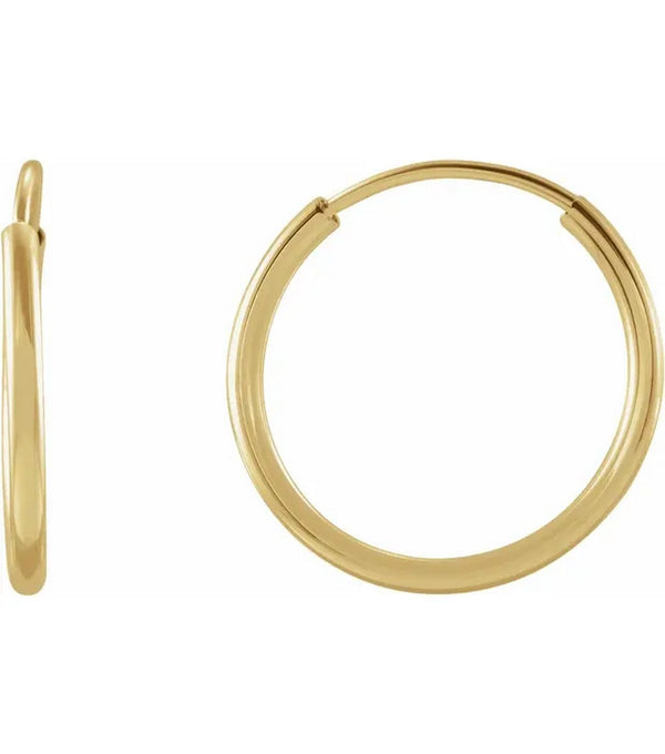 12 mm Flexible Endless Hoop Earrings