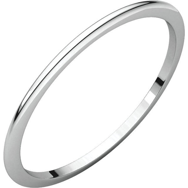 1mm Half Round Wedding Band