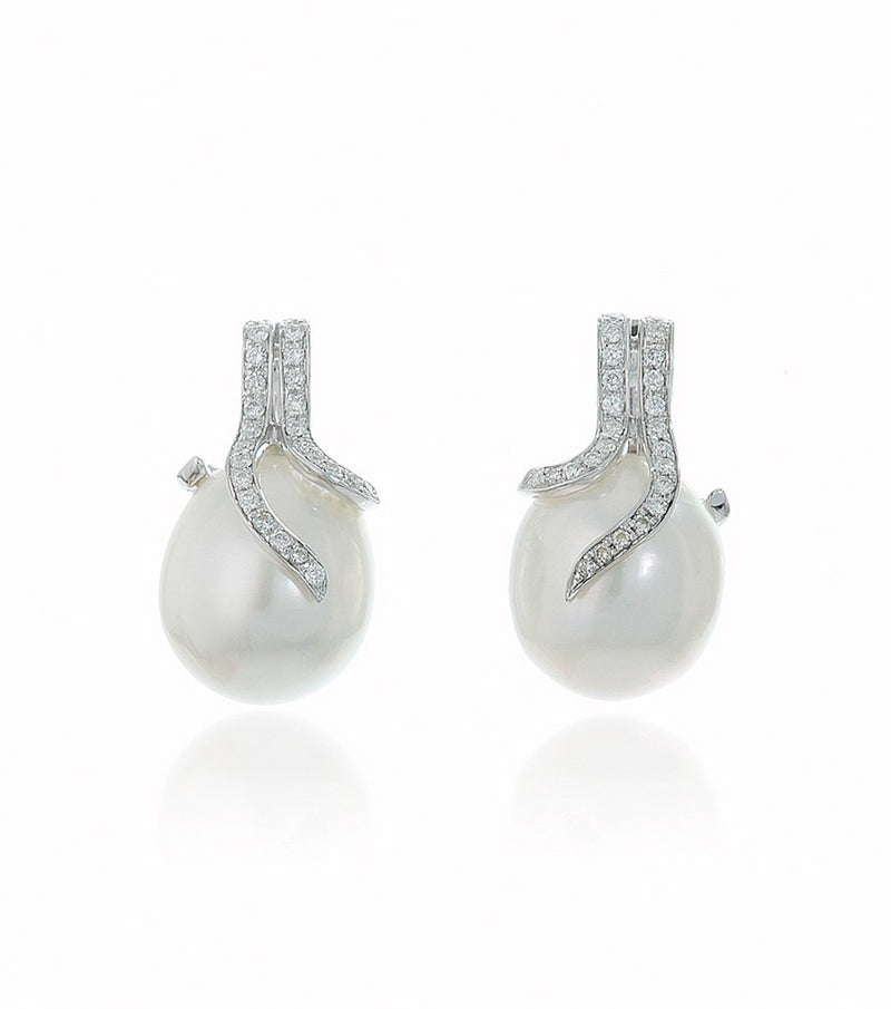 Red Carpet South Sea Pearl and Diamond Earrings