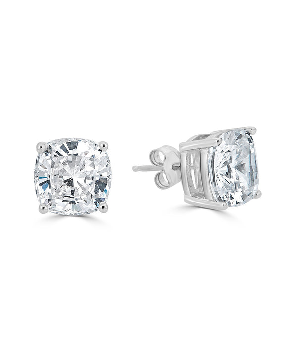 Lucille 9mm Cushion Cut Stud Earrings