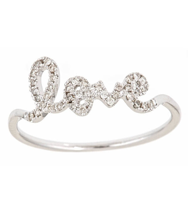 Gold Diamond Love Ring