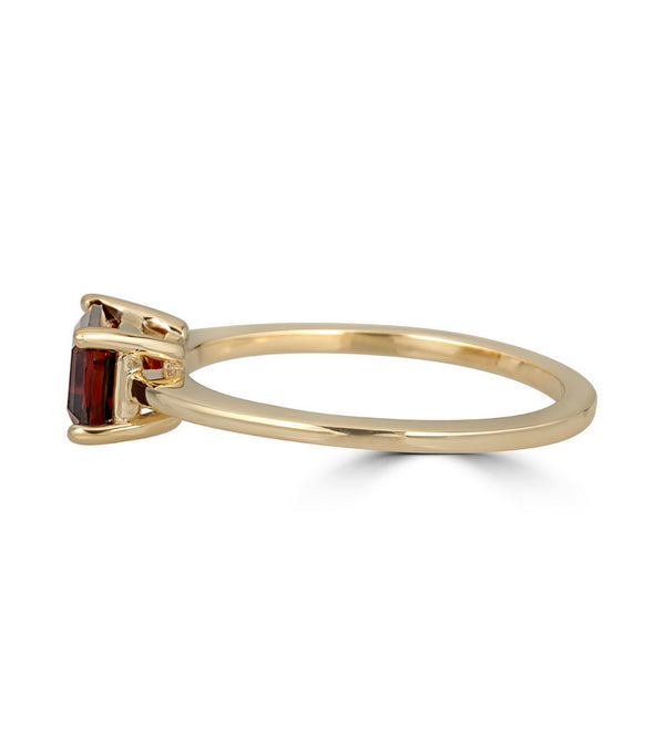 Emerald Cut Garnet Ring - Thomas Laine Jewelry