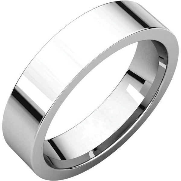 5mm Flat Comfort Fit Wedding Band