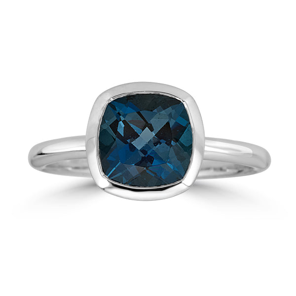 London Blue Topaz Gold Ring