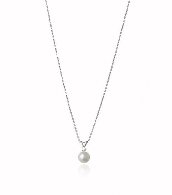 Akoya Pearl and Diamond Necklace