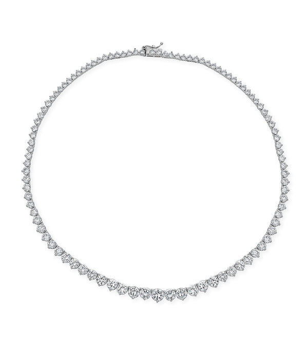 Karolyne Graduated Round Brilliant Necklace