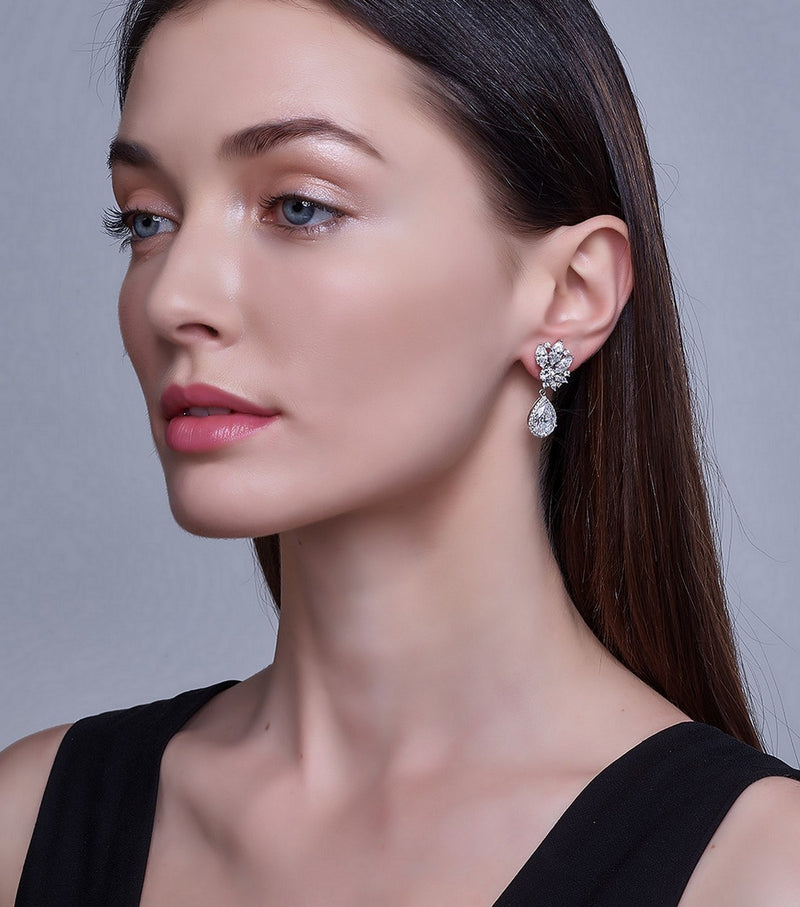 Ava Burst Teardrop Earrings