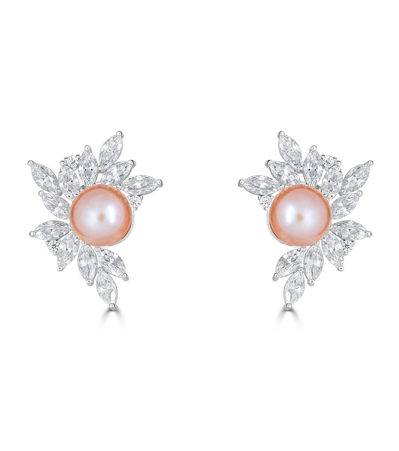 Liz Garland Pearl Cluster Earrings