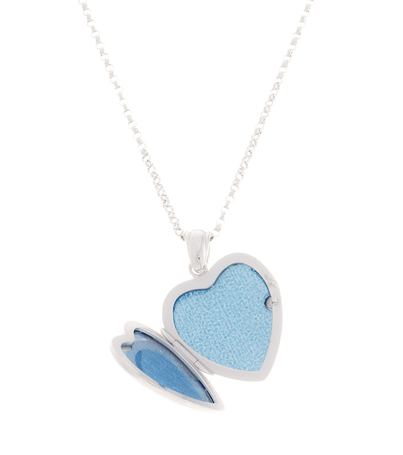 Premium Sterling Silver Heart Diamond Locket