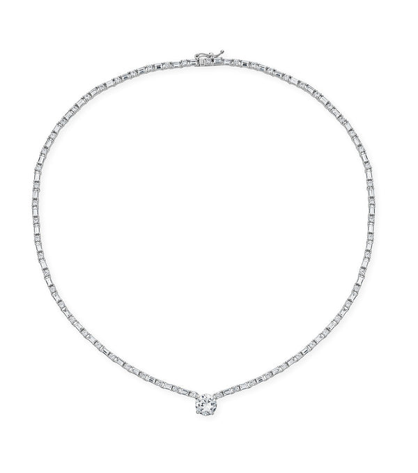Karolyne Elevated Solitaire Necklace