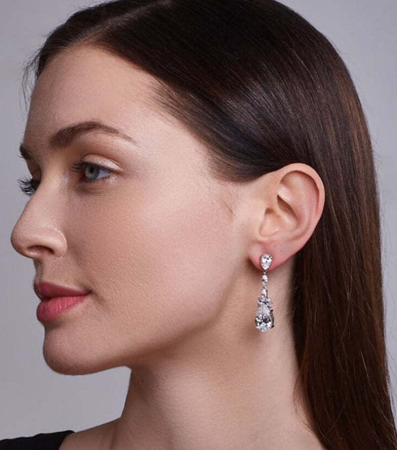 Liz Long Drop Earrings