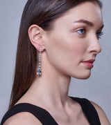 Hollywood Long Emerald Cut Drop Earrings - Thomas Laine Jewelry