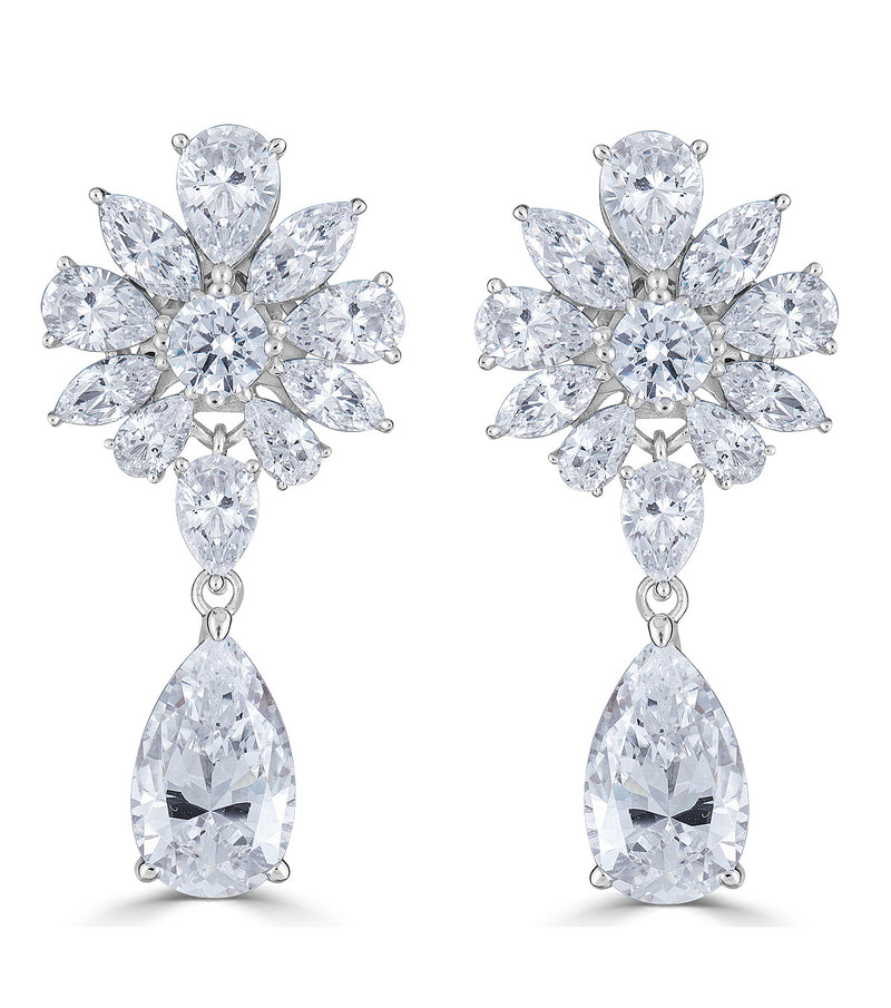 Duchess Floral Bridal Earrings