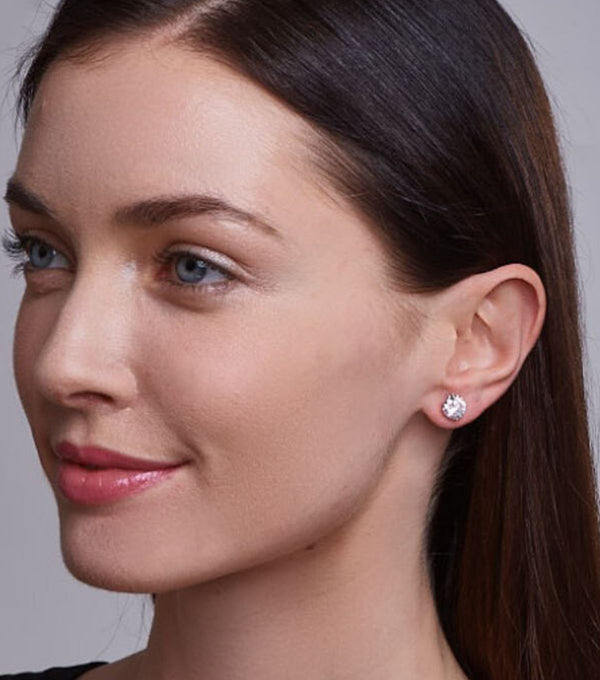 Liz 10mm Round Stud Earrings - Thomas Laine Jewelry