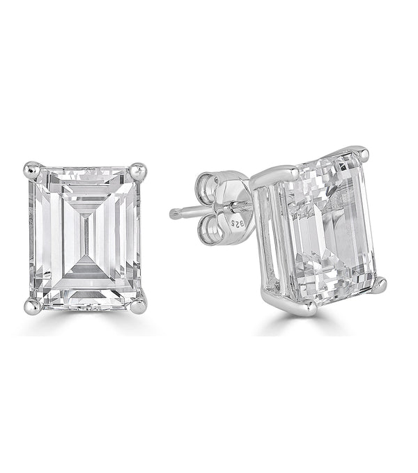 Lucille Emerald Cut Stud Earrings - Thomas Laine Jewelry