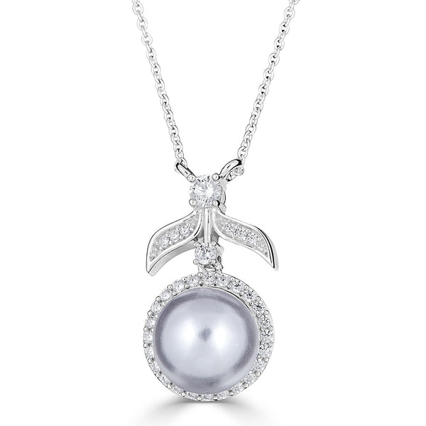 Hollywood Halo Pearl Pendant