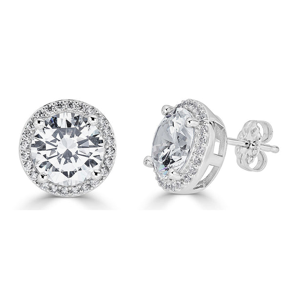 Hollywood Halo Round 10mm Stud Earrings