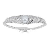 Hollywood Herringbone Pearl Bracelet - Thomas Laine Jewelry