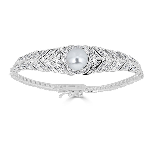Hollywood Herringbone Pearl Bracelet