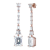 Hollywood Emerald Cut Drop Earrings - Thomas Laine Jewelry