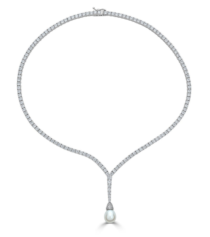 Duchess Pearl Drop Necklace