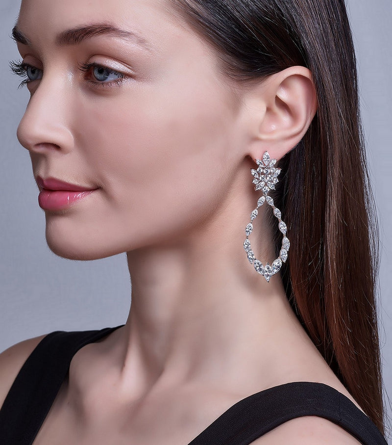Marquise Statement Earrings - Thomas Laine Jewelry