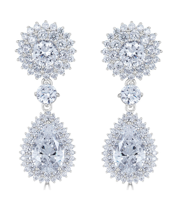 Regal Halo Earrings