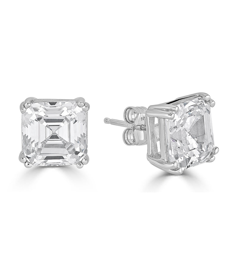 Lucille Asscher Cut Stud Earrings