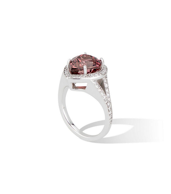 14K Split Shank Pink Tourmaline Pear Engagement Ring $3595