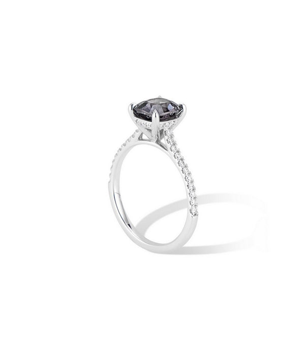 14k White Gold Grey Spinel Engagement Ring. $1995