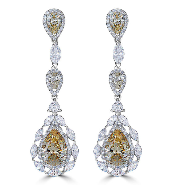 Duchess Canary Color Drop Earrings - Thomas Laine Jewelry on sale